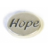 SS.925 Oval Message Beads Hope 11mm (Hole 1.8mm)